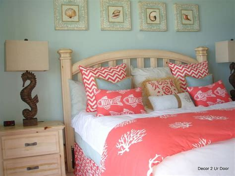 coral themed bedroom beach theme coral and aqua bliss perfect for beach house