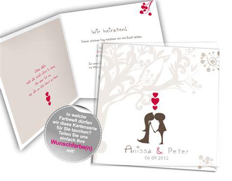Hochzeitseinladungen Braun by Hochzeitseinladung Liebesbaum In Braun