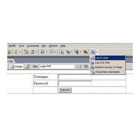 Dreamweaver Tutorial Login Page | dreamweaver tutorial how to make a login page in dreamweaver