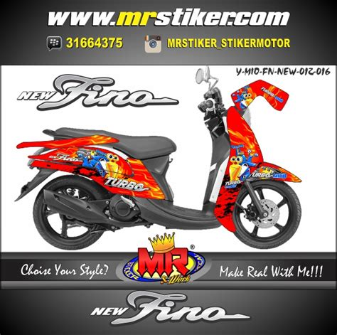 Keranjang Mio Fino mio fino turbo snail stiker motor striping motor suka