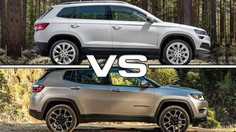 skoda jeep 2018 skoda karoq vs 2017 jeep compass youtube