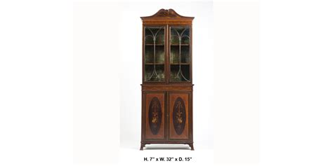 narrow mahogany bookcase edwardian mahogany marquetry narrow bookcase the world