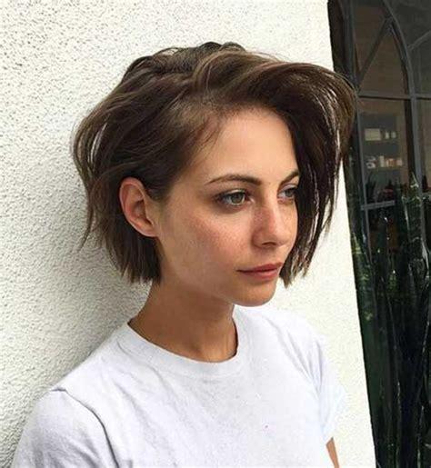 brown short hairstyles  women short