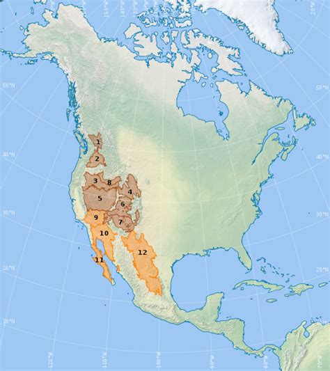 map us deserts list of american deserts