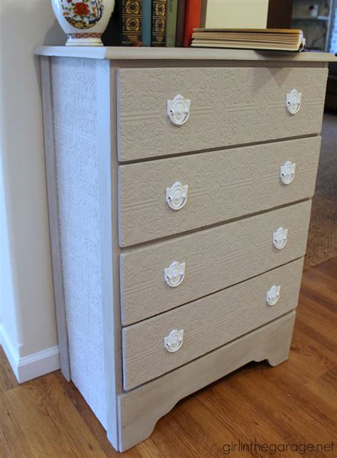 update a dresser how to update a dresser with paintable wallpaper girl in