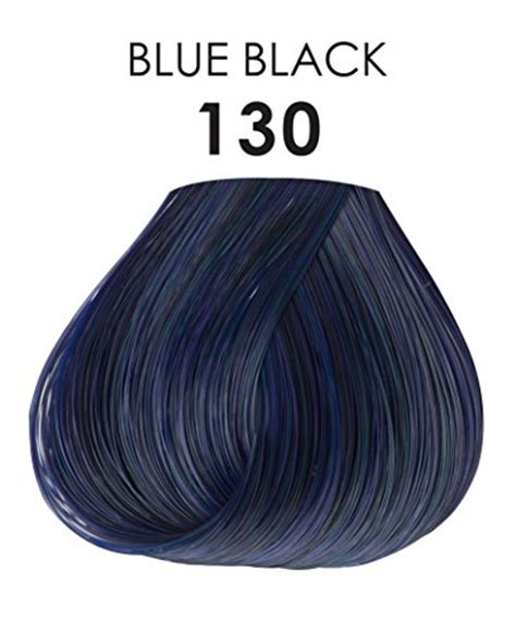 permanent blue hair color adore semi permanent haircolor 130 blue black 4 ounce