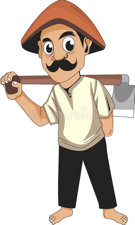 terbaru gambar petani kartun sawah