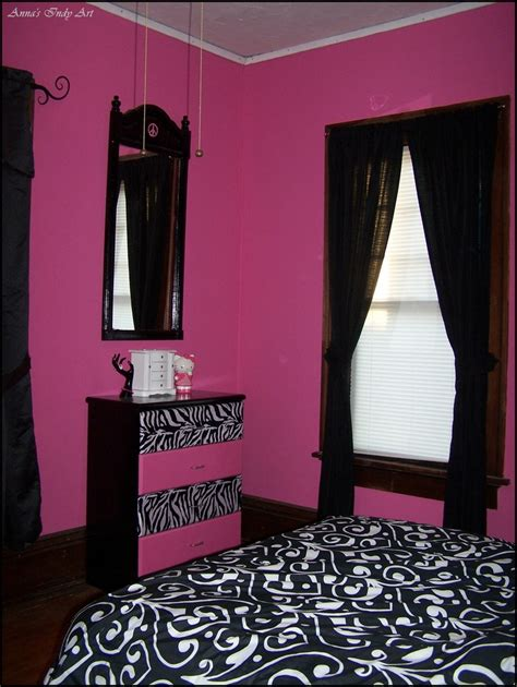girls bedroom dressers upcycled dresser in a pink and black room my own projects designs pinterest black rooms