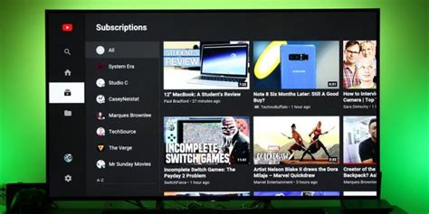 layout android youtube youtube per android tv cambia look ed introduce nuovi