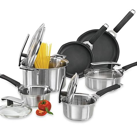 Bed Bath And Beyond Cookware Sets Pyrex 174 Stainless Steel 10 Cookware Set Bed Bath Beyond
