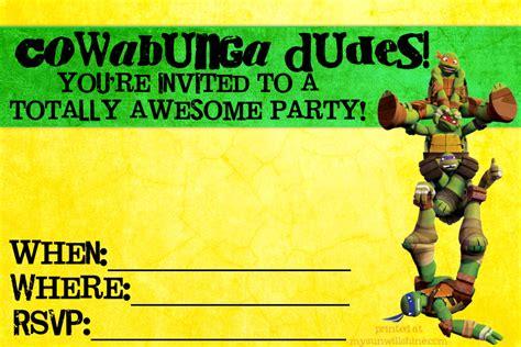 free printable birthday cards ninja turtles birthday invites teenage mutant ninja turtle party