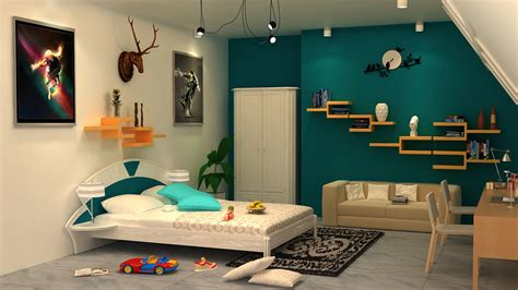 Bedroom Interior In India 3d Interior Of Bedroom With 3ds Max With Vray On Behance