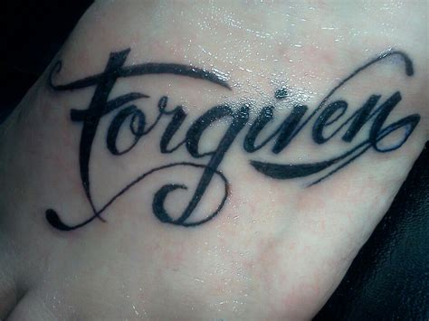 forgive tattoo forgiven inspired ink