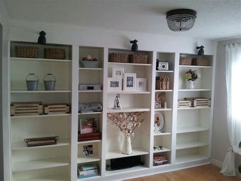 Built In Billy Bookcases My Version Of Billy Bookcase Built Ins Living Room