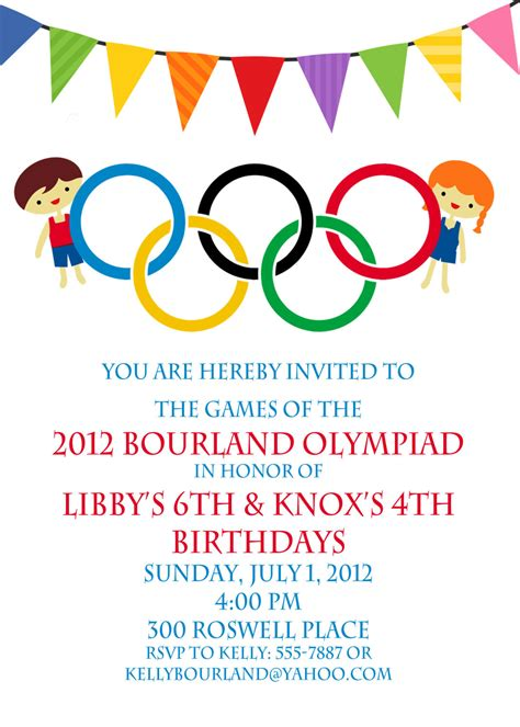 olympic invitation olympics birthday by peachymommy on etsy