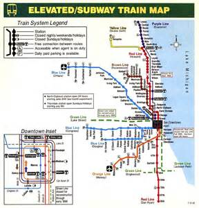 Chicago L Blue Line Map by Chicago El Train Map Bing Images