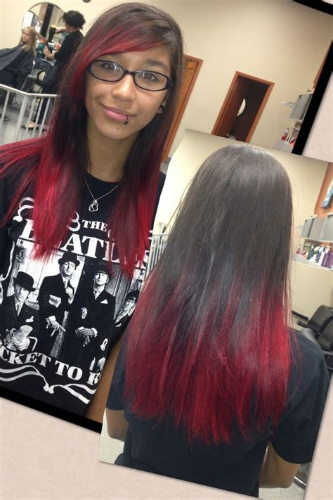 i dyed my hair red and it turned black 1000 images about hair i love on pinterest red dip dye