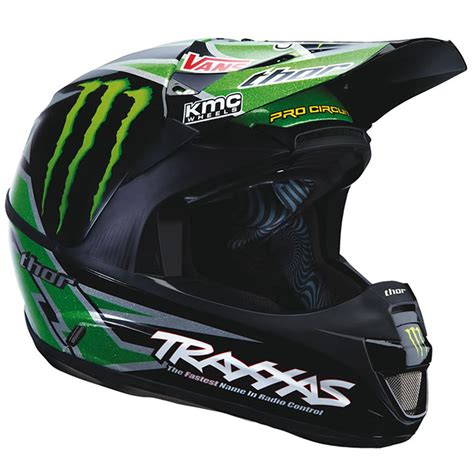 monster motocross helmet thor force pro circuit monster energy black green