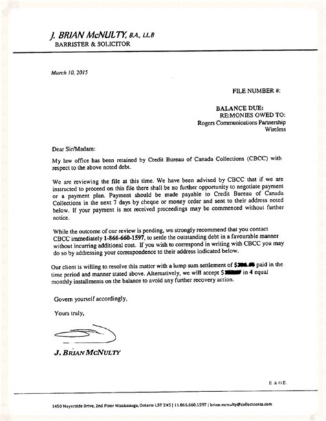 Cibc Letter Of Credit Mcnulty Brian Demand Letters