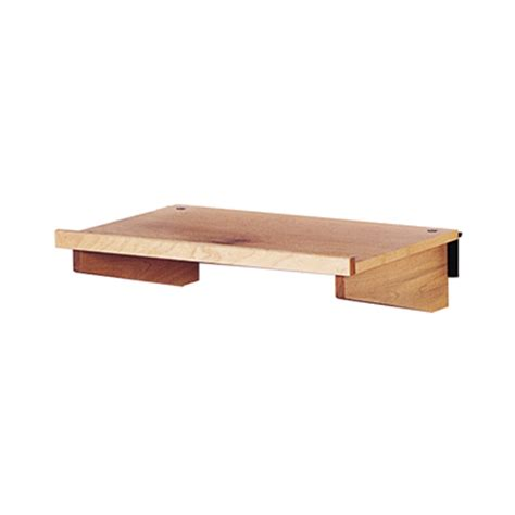 wooden slatwall shelf trio display