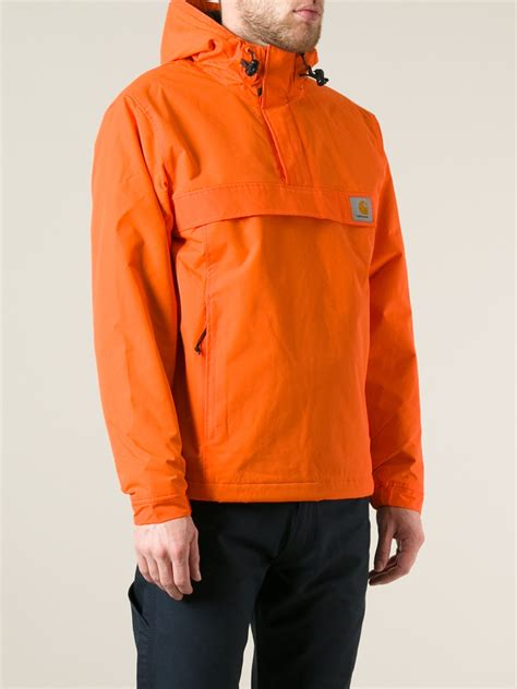 Sweater Carhart Roffico Cloth lyst carhartt nimbus pullover jacket in orange for