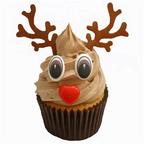 Easter Home Decorating Ideas Christmas Cupcake Characters Set To Make 6 Fun Rudolph