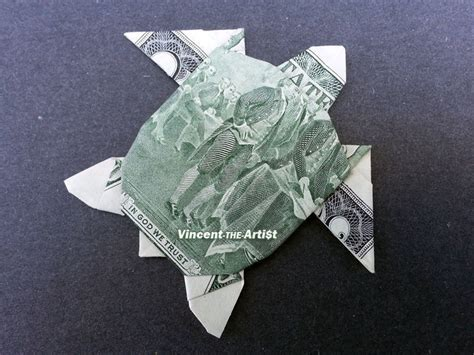 Turtle Dollar Origami - 2 bill money origami sea turtle dollar bill made