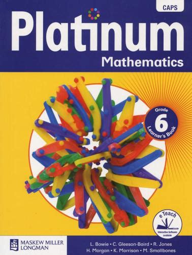 platinum mathematics caps grade 6 learner s book