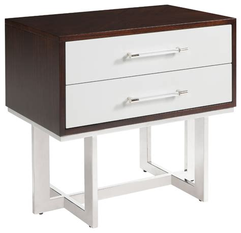 funky nightstands balmour modern classic espresso light grey wood steel