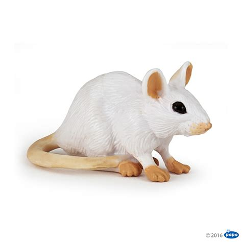 Papo White papo white mouse animal kingdom figure 50222