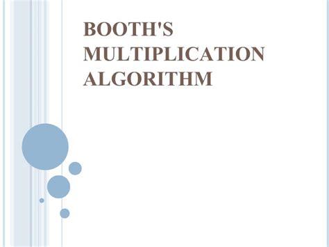 design of booth multiplier booths multiplication algorithm