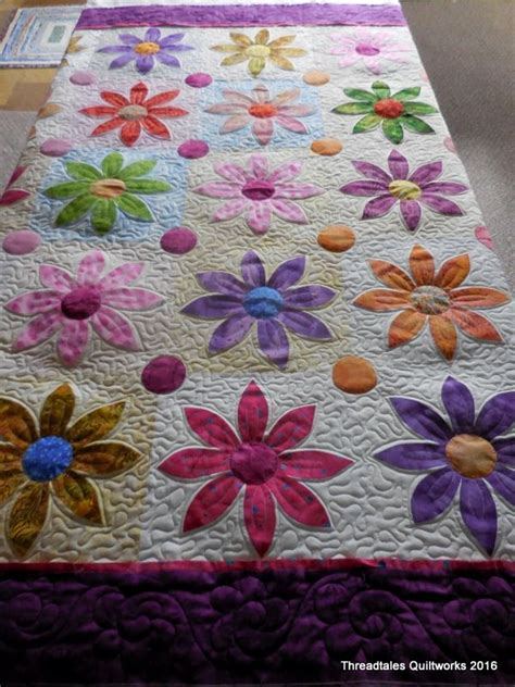Patchwork Applique by The Machine Today Applique Quilts Flowers And Cotton