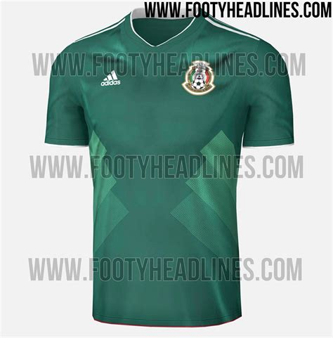 Jersey Meksiko mexico 2017 home kit leaked footy headlines