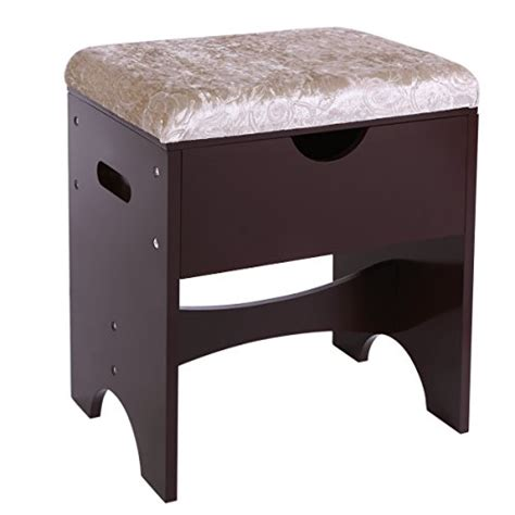 Vanity Bench With Storage Bewishome Vanity Bench Piano Seat Makeup Stool With Upholstered Seat A
