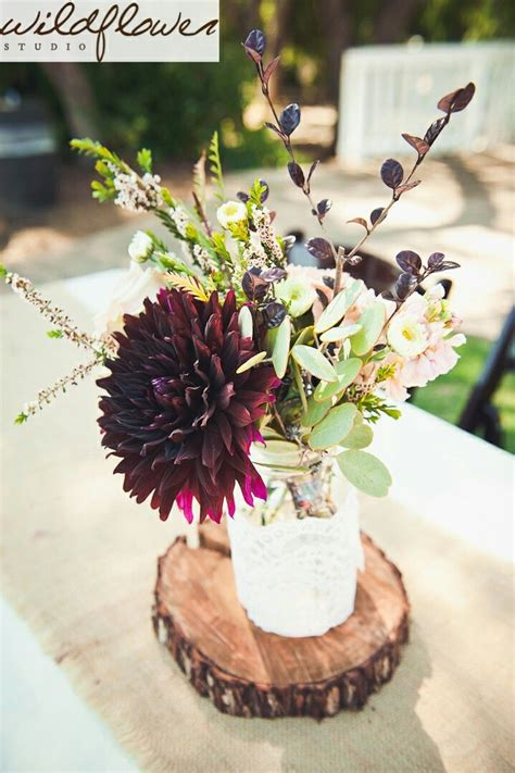 burgundy wedding table centerpieces rustic center simple centerpiece burgundy and