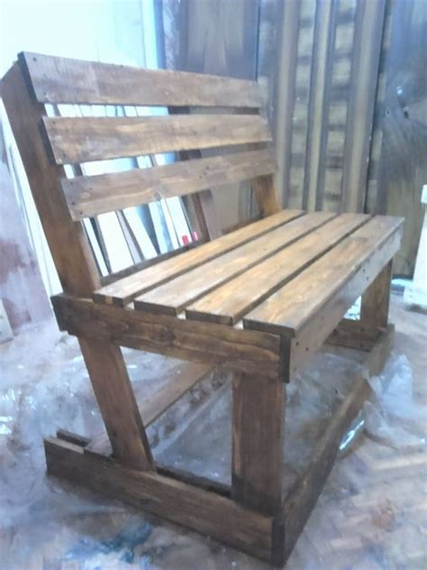 bench slope diy benches from 2 pallets pallet ideas outdoor