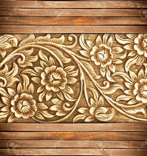 pattern of wood frame carved pattern of wood frame carve flower on wood background