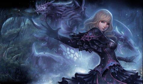 wallpaper naga biru anime girls realistic blonde dragon fantasy art women