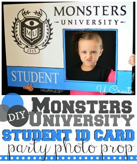 Monsters Student Card Template by Monsters Student Id Card Photo Prop U Create