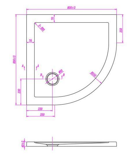 misure standard piatto doccia piatto doccia ultraflat in acrilico alto 4cm semicircolare