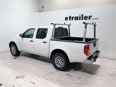 nissan frontier tracrac tracone truck bed ladder rack fixed mount 800 lbs silver