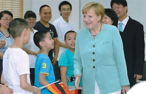 2 In 1 Data Lines Noodles Intl visiting german chancellor angela merkel at the huaren