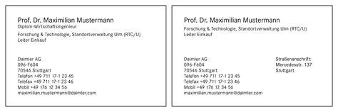 Visitenkarten Telefonnummer Schreibweise by Daimler Brand Design Navigator