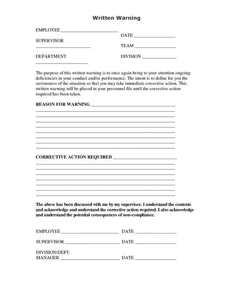 written warning letter template best photos of written warning discipline notice