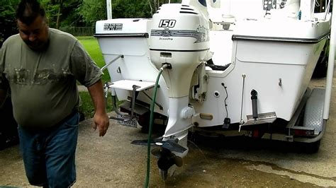 do boat motors have thermostats how to flush your outboard boat motor correctly youtube