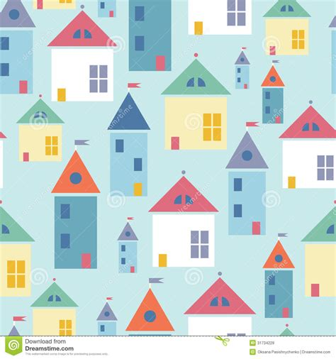 seamless pattern houses town houses seamless pattern background royalty free stock