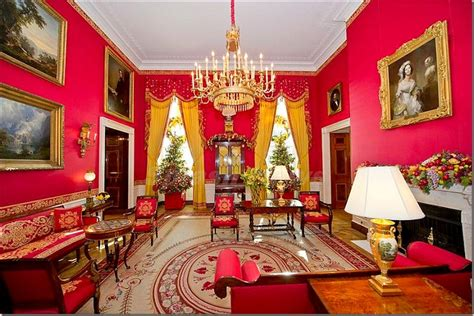 how many people work in the white house the french tangerine the red room
