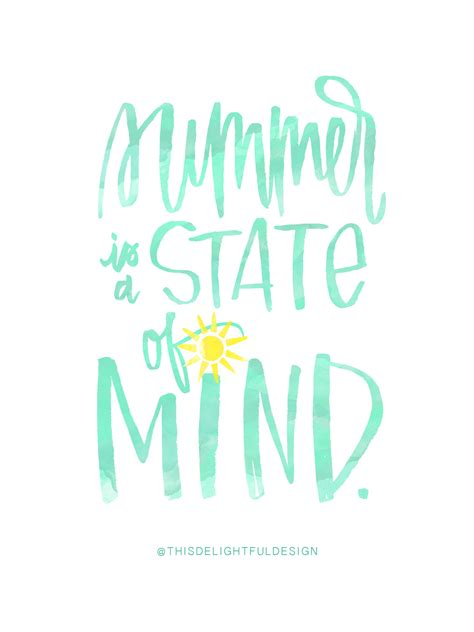quotes about summer summer is a state of mind quote watercolor