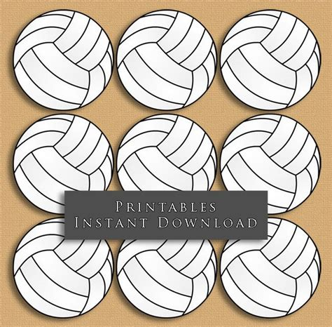 printable volleyball gift tags 2 5 quot volleyball printable cupcake toppers sports theme