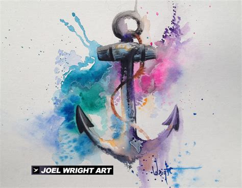 watercolor anchor tattoo watercolor artist surreal paintings abstract